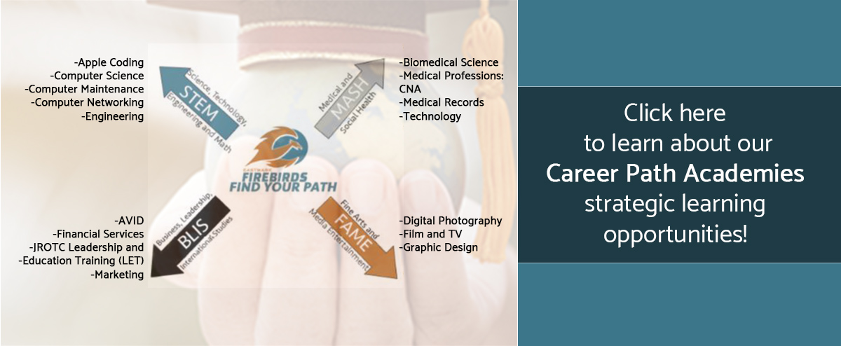 10-Click here to learn about our Career Path Academies strategic learning opportunities! - STEM, MASH, FAME, BLIS