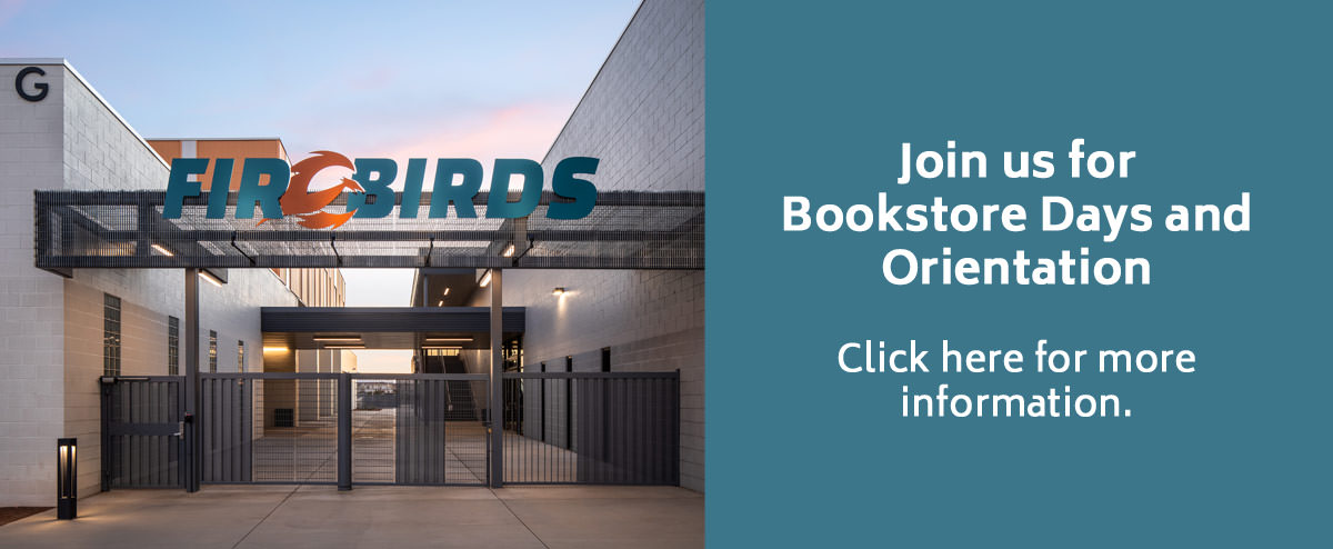 Join us for Bookstore Days and Orientation. Click here for more information.