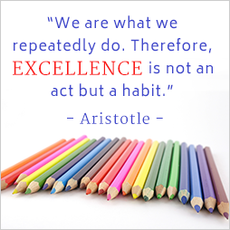 We are what we repeatedly do. Therefore, excellence is not an act but a habit. Aristotle