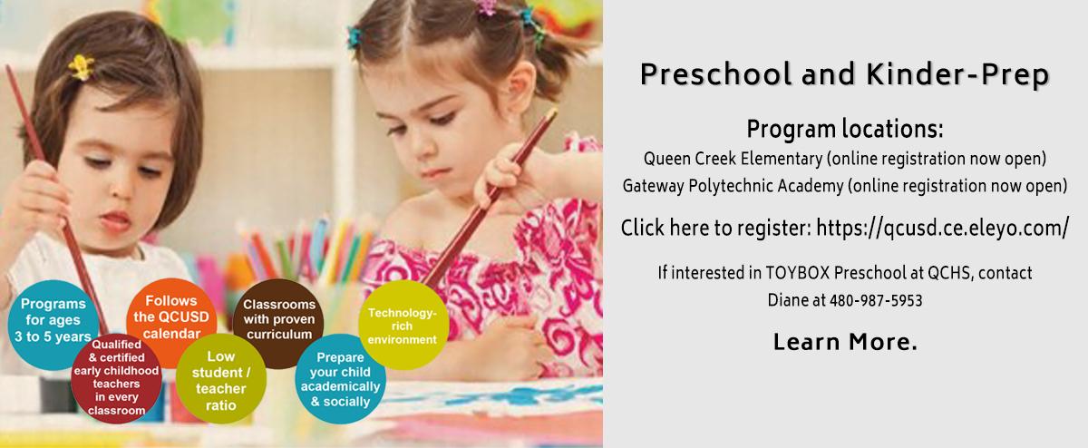 QCUSD Preschool Programs