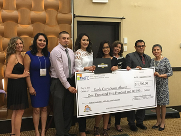 Scholarship winner Karla