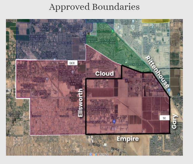 District boundaries map for the 2021-2022 school year