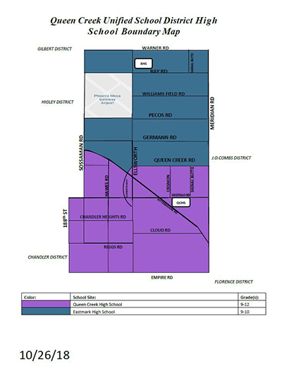 Queen Creek High School Boundaries