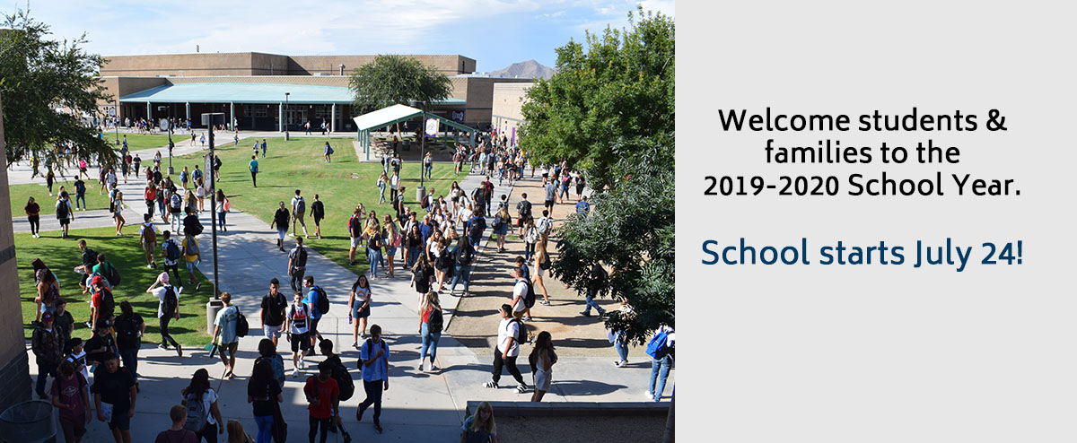 Welcome students & families to the 2019-2020 School Year. School starts July 24!