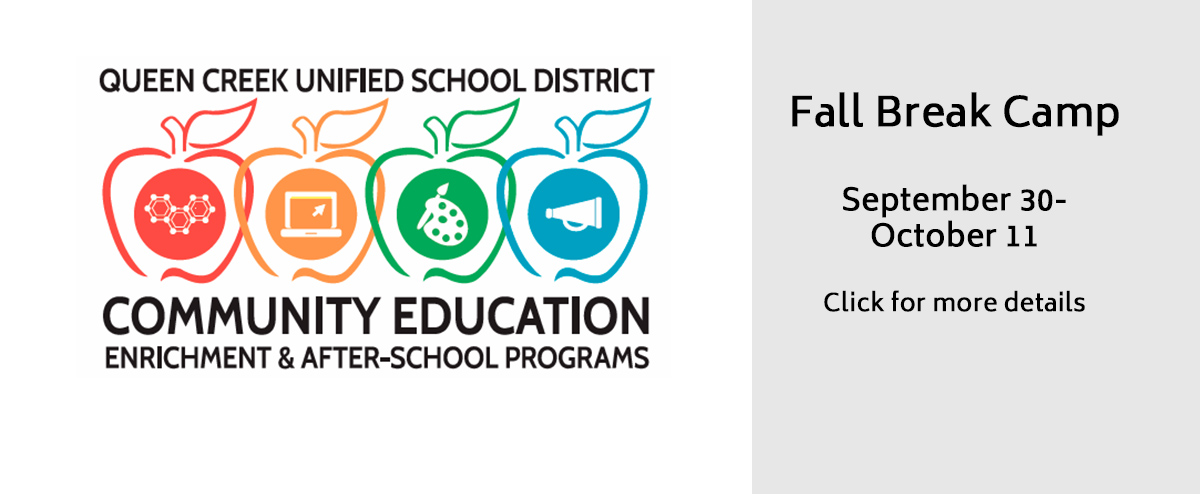 QCUSD Community Education Enrichment & After-School Programs-Fall Break Camp-Sep 30-Oct 11-Click for more details
