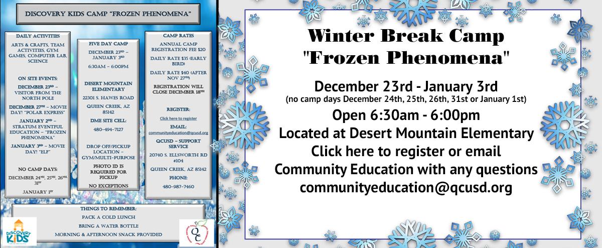 Winter Break Camp Frozen Phenomena
