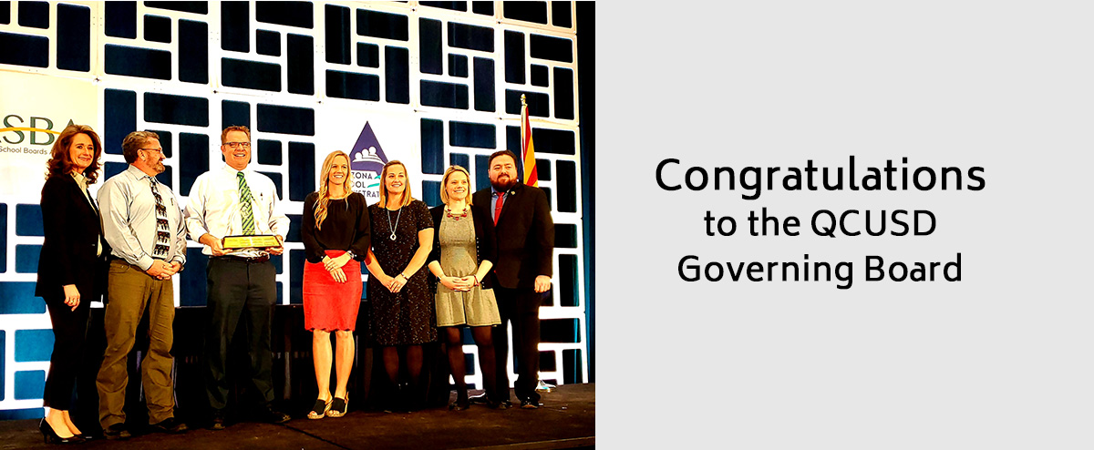 Congratulations for the QCUSD Governing Board