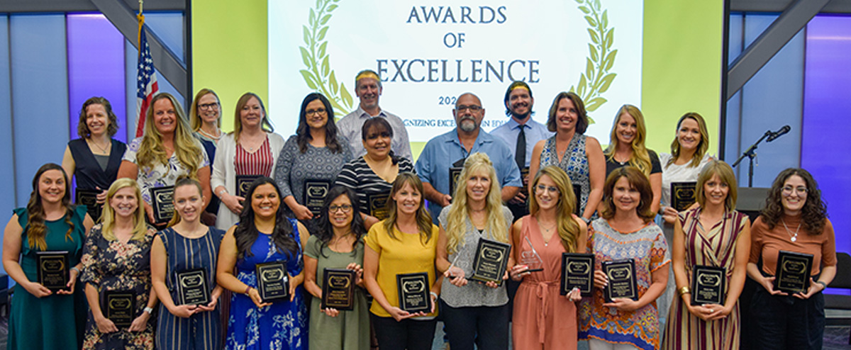 Group photo of Awards of Excellence Honorees