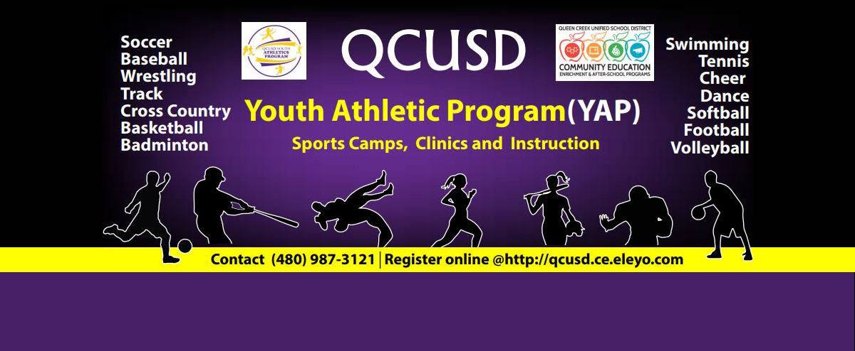 QCUSD Youth Athletic Program. Sports camps, clinics, and instruction. Contact 480-987-3121.