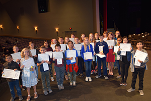 Participating students in the district spelling bee