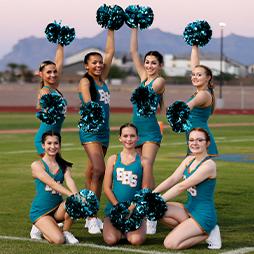 Eastmark High School cheer team photo