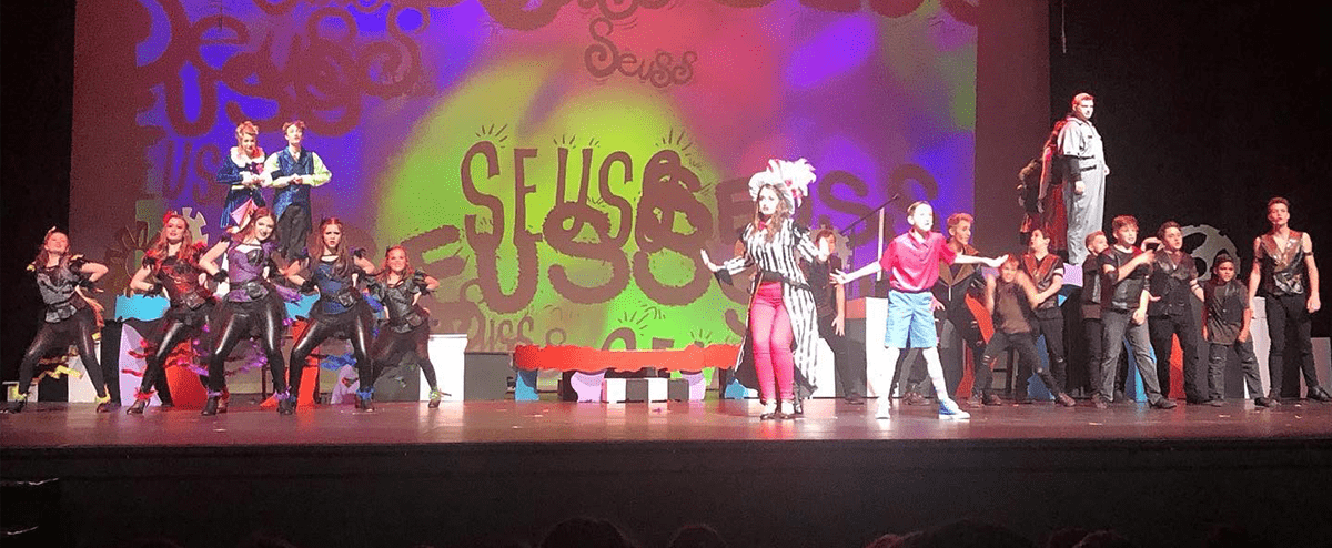 Students perform Seussical the Musical on stage