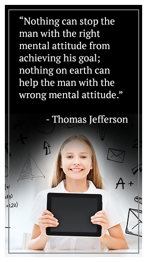 Nothing can stop the man with the right mental attitude from achieving his goal; nothing on earth can help the man with the wrong mental attitude. - Thomas Jefferson