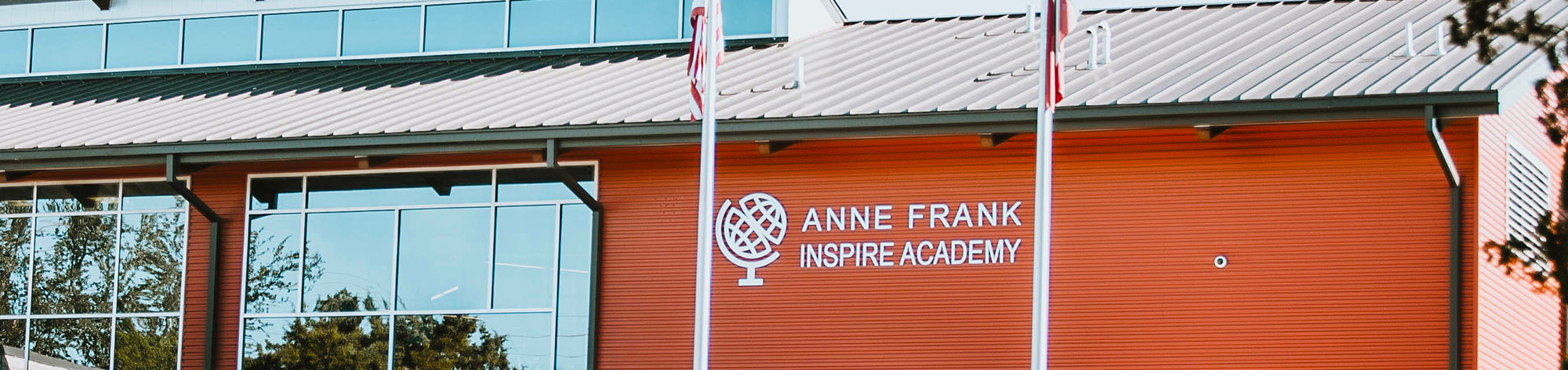 Outside view of Anne Frank IA school building
