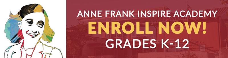 Ann Frank Inspire Academy - Enroll Now! Grades K-12