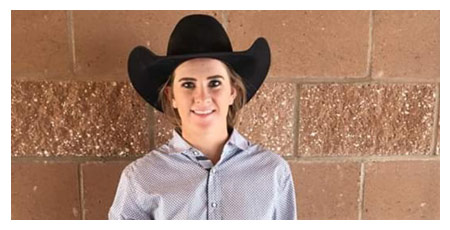 Animas Senior Tierney Washburn is the Fall High School Rodeo Goat Tying Champion.