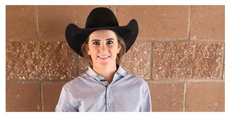 Animas Senior Tierney Washburn is the Fall High School Rodeo Goat Tying Champion.