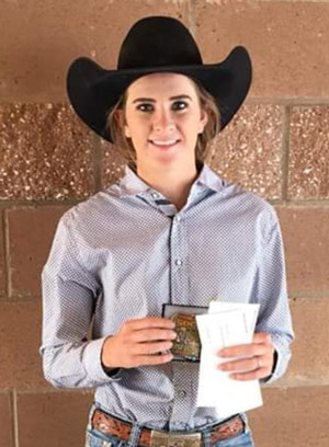Tierney Washburn is the Fall High School Rodeo Goat Tying Champion