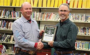 Mr. Klump receiving service award