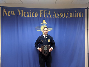 Colton Jacks at the State FFA Convention in Las Cruces