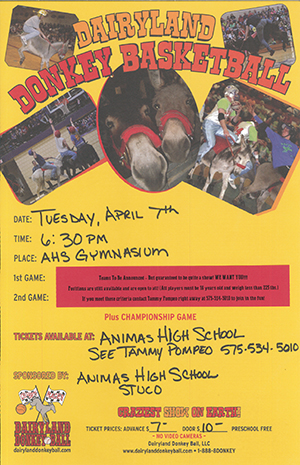 Dairyland Donkey Basketball flyer