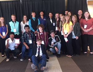 Ms. Davenports' senior government class attended the Domenici Public Policy Conference September 12 at NMSU