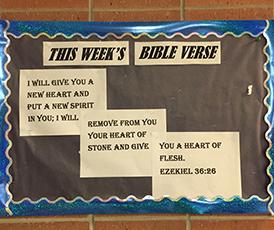 Bible Verse Bulletin Board