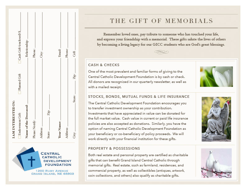 Memorial Donation Form
