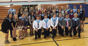 National Honor Society members pose together