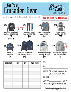 Get your crusader gear! Just In Time for Christmas!